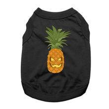 Pineapple Jack-O-Lantern Dog Shirt - Black