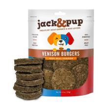 Jack & Pup Venison Burgers Dog Treat