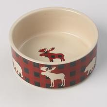 Jackson Buffalo Check Dog Bowl - Moose/Bear
