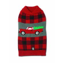 Jackson Novelty Dog Sweater - Tree & Truck