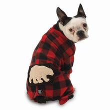 Jackson Polar Bear Dog Pajamas - Red/Black