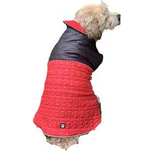Jackson Reversible Puffer Dog Coat by Petrageous - Black/Red