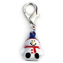 Jingle Snowman Dog Collar Charm