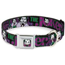 The Joker Face Seatbelt Buckle Dog Collar by Buckle-Down