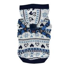 Joy Winter Dog Hoodie by Pinkaholic - Navy