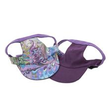 Joyful Bling Reversible Dog Visor - Purple Swirl