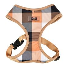 Quinn Plaid Dog Harness by Puppia - Beige