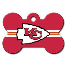 Kansas City Chiefs Engravable Pet I.D. Tag - Bone
