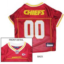 Kansas City Chiefs Officially Licensed Dog Jersey - Yellow and White Trim