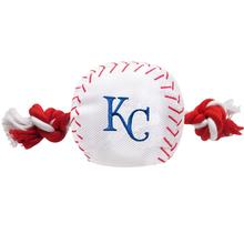 Kansas City Royals Nylon Plush Baseball Rope Dog Toy