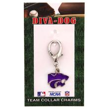 Kansas State Wildcats Dog Collar Charm by Diva Dog