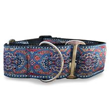 Kashmir Wide Martingale Dog Collar by Diva Dog - Egyptian Sunset