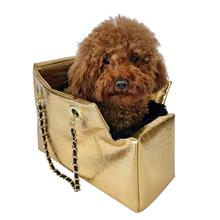 Kate Dog Carrier by The Dog Squad - Gold Croc