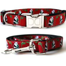 Panda-Monium Dog Collar and Leash Set by Diva Dog