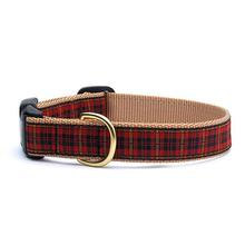 New Red Plaid Dog Collar by Up Country