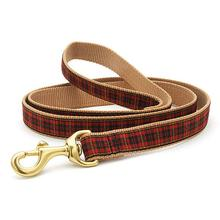 New Red Plaid Dog Leash by Up Country