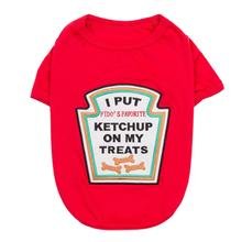 Ketchup Licker Dog Costume Shirt