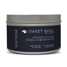 kin+kind Sweet Basil Natural Pet-Odor Neutralizing Candle