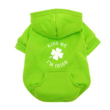 Kiss Me I'm Irish Dog Hoodie - Green