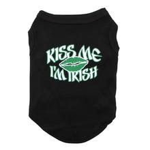 Kiss Me I'm Irish Dog and Cat Shirt - Black