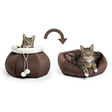 Kitty Pouch Ilan Cat Bed - Dark Chocolate