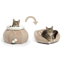 Kitty Pouch Ilan Cat Bed - Wheat