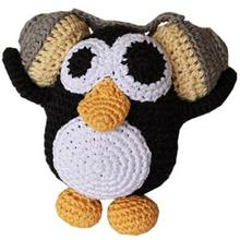 Knit Knacks Hipster Penguin Organic Dog Toy