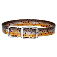 KOA Fish Dog Collar by Dublin Dog - Brown Trout