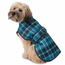 Kodiak Dog Coat - Teal Plaid
