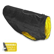Kurgo Loft Reversible Dog Jacket - Black and Yellow