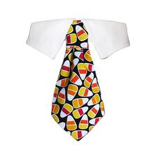 Autumn Dog Shirt Collar and Tie - Candy Corn