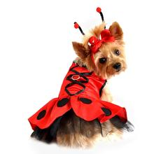 Ladybug Fairy Dog Costume Harness Dress by Doggie Design