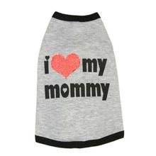 I Luv My Mommy Dog Shirt by Ruffluv NYC