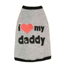 I Luv My Daddy Dog Shirt by Ruffluv NYC