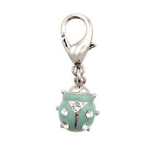 Ladybug D-Ring Pet Collar Charm by FouFou Dog - Mint