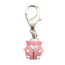Ladybug D-Ring Pet Collar Charm by foufou Dog - Pink