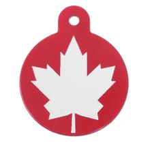 Large Circle Engravable Pet I.D. Tag - Canadian Flag