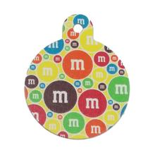 Large Circle Engravable Pet I.D. Tag - M&M's Multi