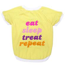 LaurDIY Eat Sleep Treat Repeat Dog T-Shirt by Pets First