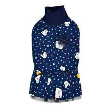 Pixie Turtleneck Cat Dress by Catspia - Navy
