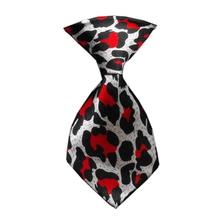 Leopard Dog Neck Tie - Red
