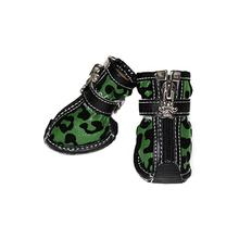 Leopard Print Fashion Dog Boots - Camo
