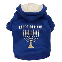 Let's Get Lit Dog Hoodie by fabdog® - Blue