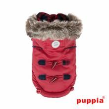 Lewis Dog Coat by Puppia - Wine