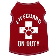 Lifeguard on Duty Dog Tank by I See Spot - Red