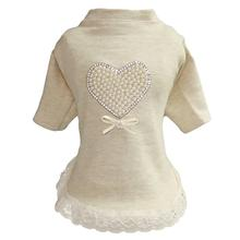 Pearl Heart Baby Dog Dress by Hello Doggie