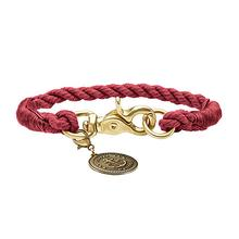 HUNTER List Rope Small Dog Collar - Bordeaux