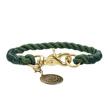 HUNTER List Rope Small Dog Collar - Olive
