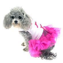 Little Ballerina Tutu Dog Harness Dress w/ Leash by Cha-Cha Couture - Hot Pink