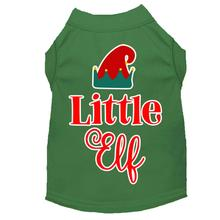 Little Elf Christmas Dog T-Shirt - Green